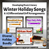 Winter Holiday Songs BUNDLE   K-5 Differentiated Activitie