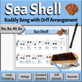 Music Reading Song with Orff Accompaniments | Sea Shell -