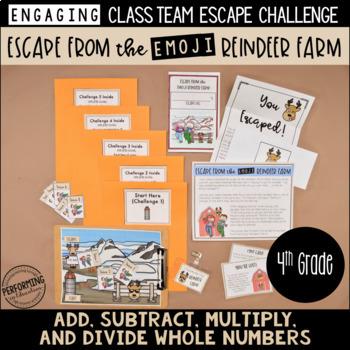 4th Grade Winter Escape Room   Winter Break Math Review