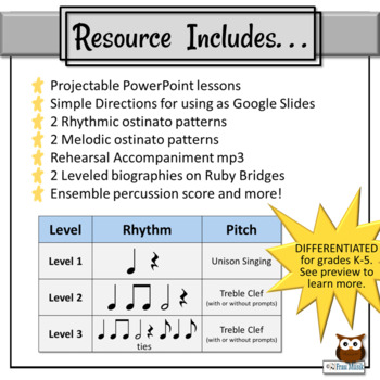 Black History Month Song & Orff Activities + Spotlight on Ruby Bridges