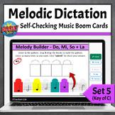 Melodic Dictation Music Game   Boom Cards Set 5 - Do Mi So La