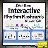 DIGITAL Rhythm Flash Cards   Interactive Music Activities
