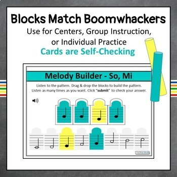 So - Mi Melodic Dictation Music Game | Boom Cards