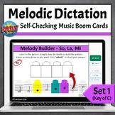 Melodic Dictation Music Game   Boom Cards Set 1 - So La Mi