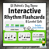St. Patrick's Day DIGITAL Rhythm Cards | Interactive Music