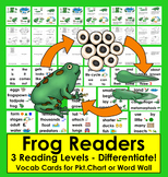 Frog Life Cycle Differentiated Readers - 3 Levels + Illustrated Word Wall
