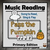 Halloween Music Activities, PRIMARY - Pass the Pumpkin