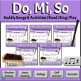 Kodály Songs with Orff Arrangements | Music Reading Activi