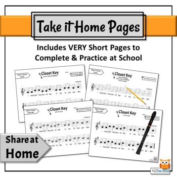 Music Reading Activity, Do, Re, Mi Song to Read, Sing & Play - Closet Key