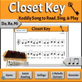 Music Reading Activity, Do, Re, Mi Song to Read, Sing & Pl