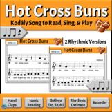 Kodaly Music Reading Song with Rhythmic Ostinato   Hot Cross Buns - Do, Re, Mi