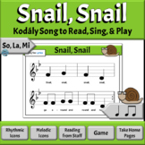 Kodaly Music Reading Song | Snail Song (COMPLETE Version) - So, La, Mi