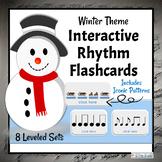Interactive DIGITAL Rhythm Flashcards   Winter Music Activities