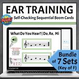 Music Ear Training   Melodic Boom Cards BUNDLE - Key of F
