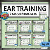 Music Distance Learning | Ear Training Melodic BUNDLE - Key of F