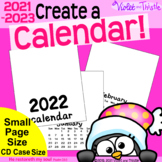2021 Calendar SMALL {Printable Monthly} Blank Parent Christmas Gift Parent CD A