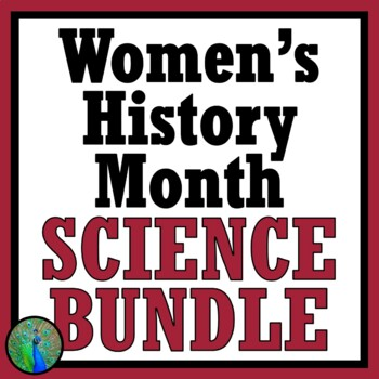 40% OFF!  Women's History Month SCIENCE ACTIVITIES BUNDLE - Female Scientists