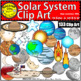 Solar System Clip Art Planets Earth Asteroids BUNDLE