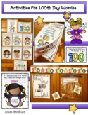 100th Day Worries Activities Class Book Bulletin Board & 1
