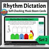 Rhythm Dictation Music Game | Boom Cards - Set 2