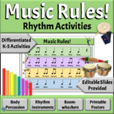 Music Back to School Orff Activities | Music Rules Rhythm