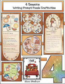 4 Seasons Activities: 4 Seasons Game, Puzzles & Writing Prompt Craft