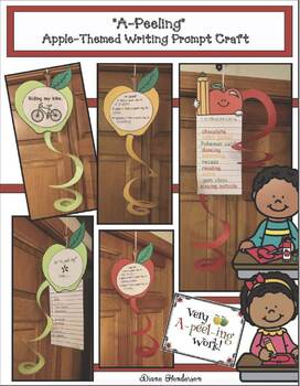 """Apple Activities: Apple Craft: """"A-peel-ing"""" Apples Writing Prompt"""