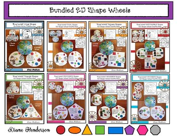 "40% Off BUNDLED 2D Shape Wheels: ""Real World"" Shapes Craft"