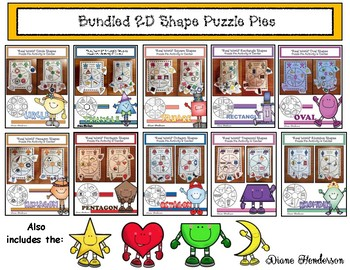 "40% Off BUNDLED 2D Shapes: ""Real World"" Puzzle Pie Activities & Center Games"
