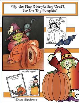 """Big Pumpkin"" Sequencing & Retelling a Story Flip Booklet Craftivity"