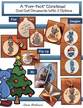 "Christmas Crafts: Christmas Ornaments ""Wishing You a 'Purr-fect' Christmas!"""