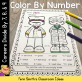 Color By Numbers Careers: Divide by 7, 8, and 9
