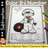 Color By Numbers Careers: Subtraction