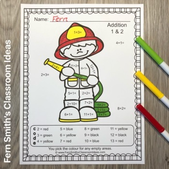 Colour By Numbers Careers: Addition and Subtraction Bundle UK Version
