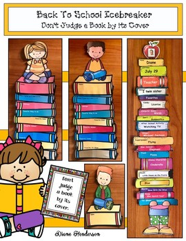 """Back To School Icebreaker Craft: """"Don't Judge a Book by its Cover!"""""""
