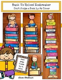 """Back To School Icebreaker Craft: """"Don't Judge a Book by it"""