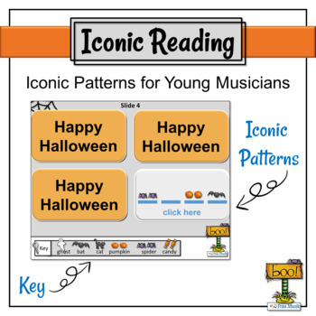 Halloween Interactive Rhythm Pattern Flashcards-Centers & Music Class Activities