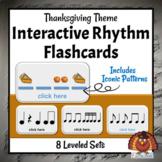 Interactive DIGITAL Rhythm Flashcards   Thanksgiving Music