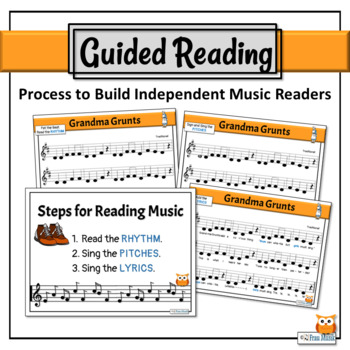 Music Reading Activity, Do, Re, Mi Song to Read, Sing & Play - Grandma Grunts