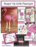 """Funny Flamingos"" 2D Shape Activities"