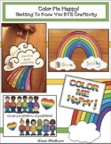 """""""Getting to Know You"""" BTS Rainbow Icebreaker Writing Prompt Craft"""