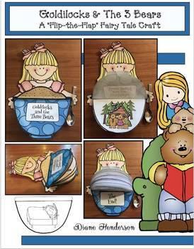 """Goldilocks & the 3 Bears"" Fairy Tale Craft: (Sequencing & Retelling)"