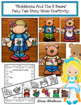 """Goldilocks & the 3 Bears"" Story Slider Craft: (Sequencing & Retelling)"