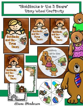 """Goldilocks & the 3 Bears"" Story Wheel Craft (Sequencing & Retelling)"