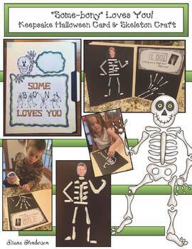 Halloween Activities: Skeleton Keepsake Crafts. Great for Party Day