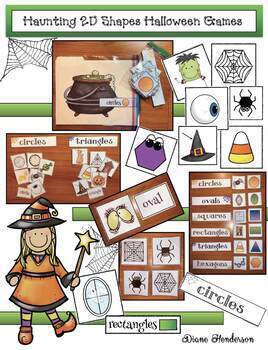 Halloween Games / Halloween Activities With 2D Shapes (Perfect for Party Day!)