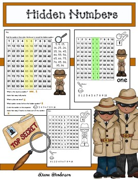 Number Activities: Hidden Number Fun With a 100s Chart
