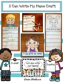 """Name Activities: """"I Can Write My Name"""" Back To School Craft & Keepsake Booklet"""