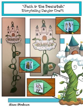 """Jack and the Beanstalk"" Fairy Tale Paper Chain Craft"