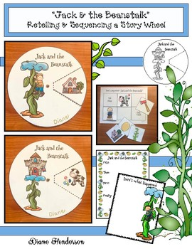 """""""Jack and the Beanstalk"""" Fairy Tale Storytelling Wheel"""
